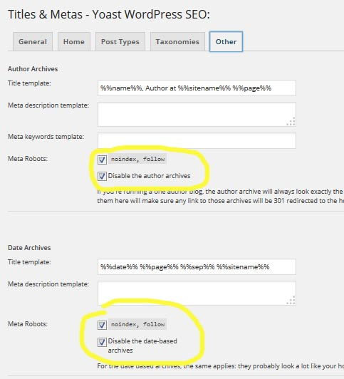 wordpres seo plugin setup
