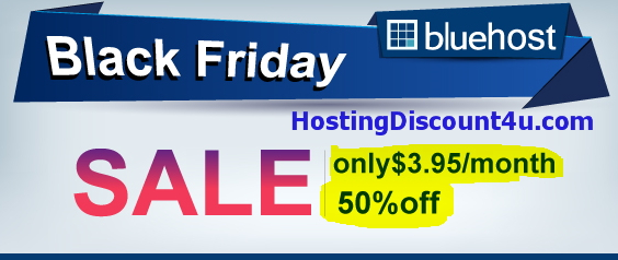 bluehost black friday cyber monday