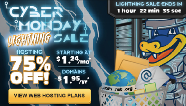 cyber monday deals hostgator