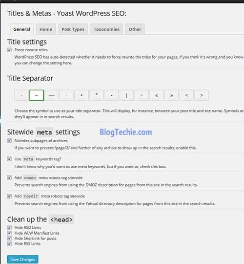 wordpress seo title settings